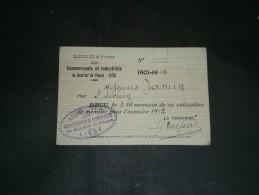 LIEGE-Carte De Membre De L'Association Des Commerçants Et Industriels Du Quartier De L'Ouest-M.JAMIN Rue St Severin 1912 - Vieux Papiers