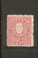 TONGA 1895 2½d Rose SG 33 MOUNTED MINT Cat £29 - Tonga (...-1970)