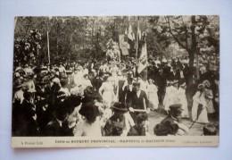 Défilé Au BOUQUET PROVINCIAL - NANTEUIL LE HAUDOIN -tir à L'arc - Jeunes Filles Costumées - Drapeaux -compagnies Archers - Tir à L'Arc