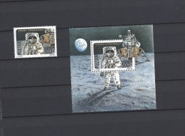 """Timbre + Bloc - POLOGNE De 1989 (Polska) - """" The 20th Anniversary Of The First Manned Moon Landing """" - Neuf  - Voir Scan - Unused Stamps"""