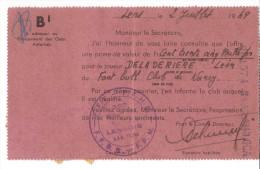 FOOTBALL-FC Nancy 1954 Contrat Autographe Ailier Léon DELADERIEREaccepte Mutation Salaire Signé Président Club - Autographs