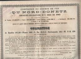 Empreint- Compagnie Chemin De Fer DU NORD-DONETZ-1908 - Chemin De Fer & Tramway