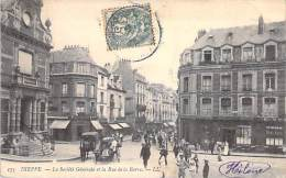 DIEPPE 76 - La SOCIETE GENERALE Et Le Rue De La Barre - CPA - Seine Maritime - BANQUE - - Dieppe