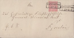 NDP Briefvorderseite EF Minr.16 R2 Freystadt I. Schl. 5.12 - Norddeutscher Postbezirk