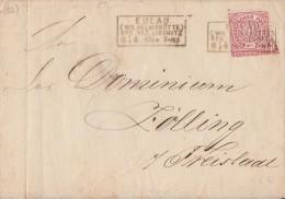 NDP Briefvorderseite EF Minr.16 R4 Eulau (Wilhemshütte) Reg. Bez. Liegnitz 8.4.69 - Norddeutscher Postbezirk