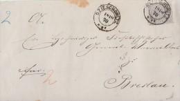 NDP Briefvorderseite EF Minr.17 K2 Dzieschowitz 18.10.70 - Norddeutscher Postbezirk