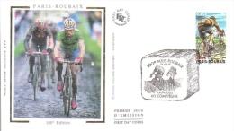 100e Paris-Roubaix  -  60 Compiègne  -  Enveloppe 1er Jour - FDC - Cyclisme