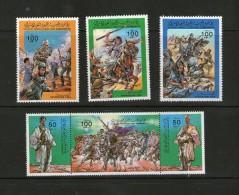 LIBYE  1984 BATAILLE YVERT N°1413/18 NEUF MNH** - Libië