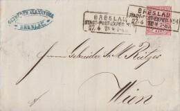 NDP Brief EF Minr.16 R3 Breslau Stadt-Post-Exped. Nr.4 27.4.70 Mit Monatsangabe - Norddeutscher Postbezirk