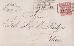 NDP Brief EF Minr.16 R3 Breslau Stadt-Post-Exped. Nr.5 15.4.70 - Norddeutscher Postbezirk