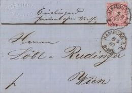 NDP Brief EF Minr.16 Hamburg 5.5.69 Proben Ohne Wert Gel. Nach Wien - Norddeutscher Postbezirk