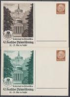 DR Privat-Ganzsache Minr. PP122 C121/01 Und 02 Postfrisch - Deutschland