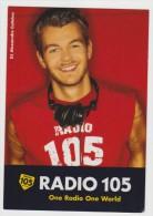 PROMOCARD N°   5155   RADIO 105 DJ ALESSANDRO CATTELAN - Publicité