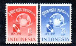 W3155 - INDONESIA 1949 , UPU Serie 367/368  *  Mint - Indonesia