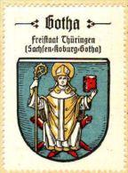 Werbemarke (Reklamemarke, Siegelmarke) Kaffee Hag : Wappen Von Gotha - Tea & Coffee Manufacturers