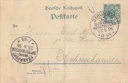 DR Ganzsache SST Berlin Gewerbeausstellung 27.6.96 - Allemagne