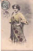 LA BELLA OTERO-DONNA FEMME WOMAN-PRIMI 900-MODE--VG 1906-ORIGINALI 100%-2 SCAN- - Femmes Célèbres