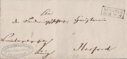 Preussen Brief Munster 20.11. Gel. Nach Herford - Preussen