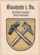 Werbemarke (Reklamemarke, Siegelmarke) Kaffee Hag : Wappen Von Glashütte In Sachsen - Tea & Coffee Manufacturers