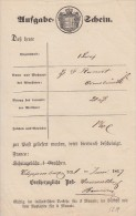 Aufgabeschein Cloppenburg 1.6.1867 - Oldenburg