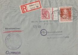 Gemeina. R-Brief Mif Minr.956,963 Erfurt 18.8.47 - Gemeinschaftsausgaben