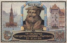 Bayern Privatganzsache Minr.PP27 VIII. Sängerbundfest Nürnberg 27.-31. 7. 1912 Gelaufen - Bayern
