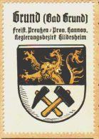 Werbemarke (Reklamemarke, Siegelmarke) Kaffee Hag : Wappen Von Bad Grund - Tea & Coffee Manufacturers