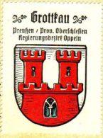 Werbemarke (Reklamemarke, Siegelmarke) Kaffee Hag : Wappen Von Grottkau - Tea & Coffee Manufacturers
