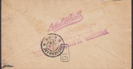 Netherlands Postal Stationery Ganzsache 5 C Wilhelmina AMSTERDAM 1895 To 'S-GRAVENHAGE (2 Scans) - Postal Stationery