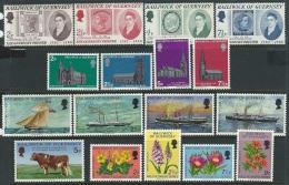 Guernsey  1971-2  Sc#56-72  5 Diff Sets  MH   2016 Scott Value $9.70 - Guernsey