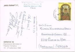 14300. Postal MOLARE (alessandria)  1994. Exposizione Genova 92 - 1991-00: Poststempel