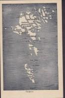 Faroe Islands PPC Færøerne Map Landkarte (2 Scans) - Färöer