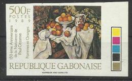 Peinture Tableaux Non Dentelés** Gabon 669 Paul  Cezanne Pommes Et Oranges - Unclassified