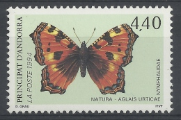 Andorra (French Adm.), Butterfly, Small Tortoiseshell (Aglais Urticae), 1994, MNH VF - French Andorra
