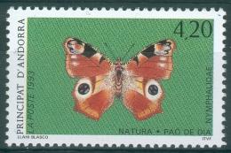 Andorra (French Adm.), Butterfly, European Peacok (Aglais Io), 1993, MNH VF - French Andorra