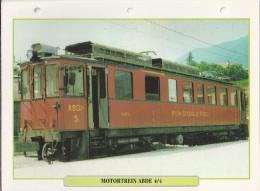 Trein.- Train - Locomotive - Motortrein ABDE 4/4. Nyon - St. Cergue - Morez. Zie Ook Achterzijde  2 Scans - Trains