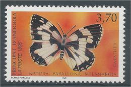 Andorra (French Adm.), Butterfly, Marbled White (Melanargia Galathea), 1995, MNH VF - French Andorra