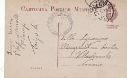 CARD  CARTOLINA POSTALE MILITARE TRIPOLITANIA CIRENAICA FRANCHIGIA POSTA MILITARE 142 26-5-1919  -2-0882-24163-164 - Guerra 1914-18