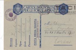 CARD  2° GUERRA FRANCHIGIA MILITARE REGIA MARINA UFFICIO TECNICO DEL GENIO NAVALE GENOVA 17-8-41  -2-0882-24167 - Militaria