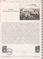 391 Document Philatelique 1978 30 EGLISE DE SAINT SATURNIN - Documents De La Poste