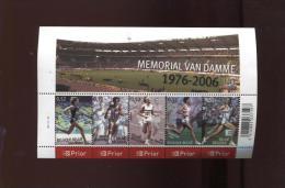 Belgie Blok Feuillet BL129 Athletics Sports Memorial Van Damme PLAATNUMMER 3  Onder Postprijs Sous Faciale !!! - Blocks & Sheetlets 1962-....