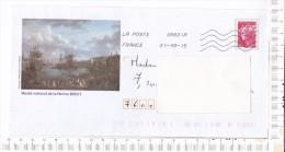 ENVELOPPE   PRE TIMBREE   - Oblitérée  - Illustration     -   MUSEE   NATIONAL   De  La   MARINE      -   BREST - Oblitérés