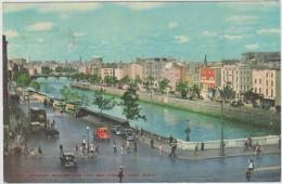 AK - DUBLIN -  Bachelors Walk  And River Liffey From O'Connell Street 40er - Dublin