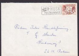 """Denmark Slogan """"Husk Postnummer"""" KØBENHAVN Omk. 1968 Cover Brief RØDOVRE Greenland Kinderhilfe (Cz. Slania) Stamp - Denmark"""