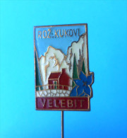 VELEBIT ROZANSKI KUKOVI Kroatien Anstecknadel Bergsteigen Klettern Alpinismus Pin Badge Climbing Mountaineering Edelweiß - Alpinismus, Bergsteigen