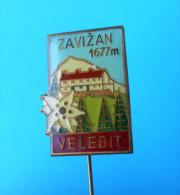 VELEBIT - ZAVIZAN - Kroatien Anstecknadel Bergsteigen Klettern Alpinismus Pin Badge Climbing Mountaineering Edelweiß - Alpinismus, Bergsteigen