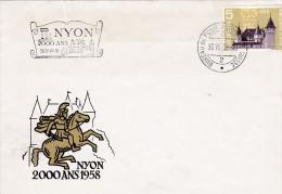 FDC 1958 2000 Ans Nyon - Schweiz