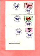 1968 Papillons Hippotion, Polyura, Danaus Poste Aérienne Nouvelle-caledonie - Schmetterlinge