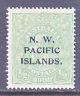 N. W. PACIFIC  ISLANDS  11   *   VARIETY  SHADE   Wmk.  9  1914  Issue - Papúa Nueva Guinea