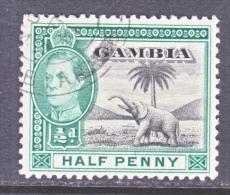 GAMBIA  132   (o)   FAUNA  ELEPHANT - Gambia (...-1964)
